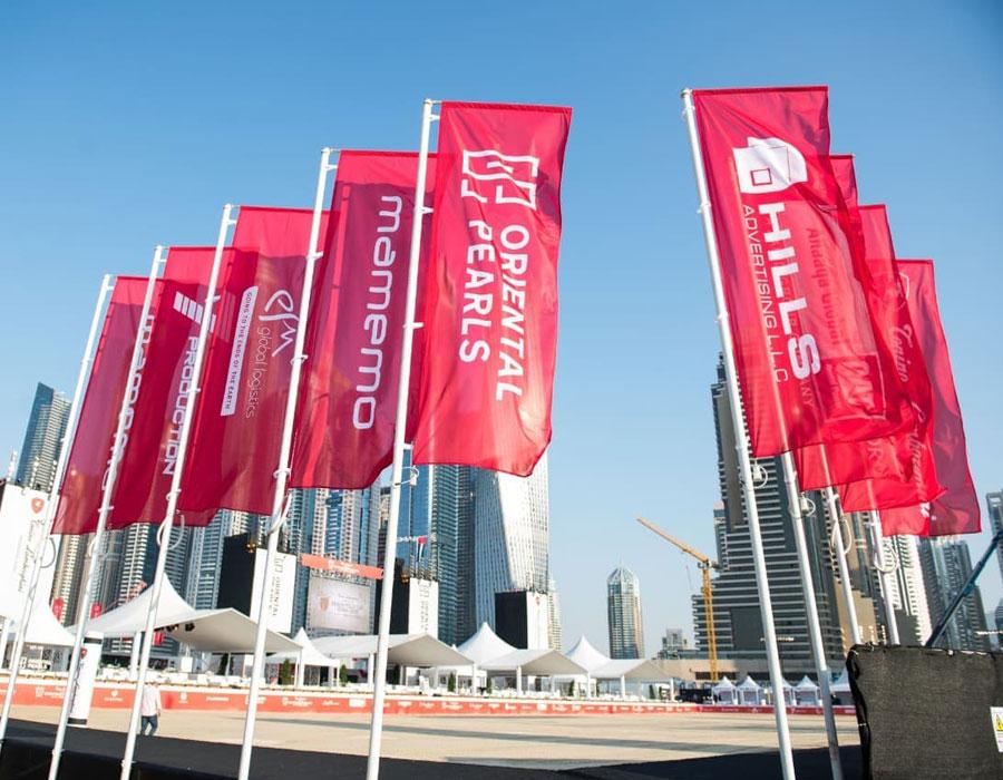 ADVERTISING-L shape FLAGS-printing-Dubai