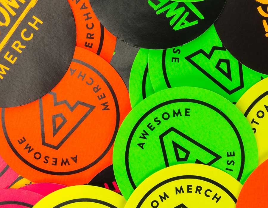 FLUORESCENT-Neon-Stickers-Printing-Dubai